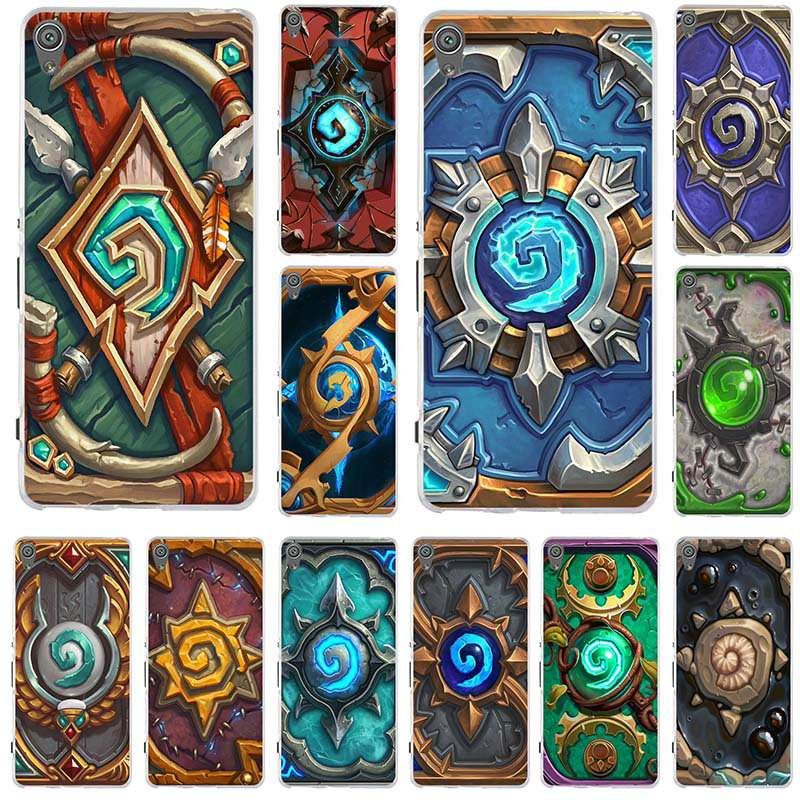 Hearthstone Heroes of Warcrafts Logo Silicone Soft TPU <font><b>Phone</b></font> <font><b>Cases</b></font> For <font><b>Sony</b></font> <font><b>Xperia</b></font> Z Z1 Z2 Z3 Z4 Z5 Compact Mini M2 M4 M5 <font><b>E3</b></font> T3 image