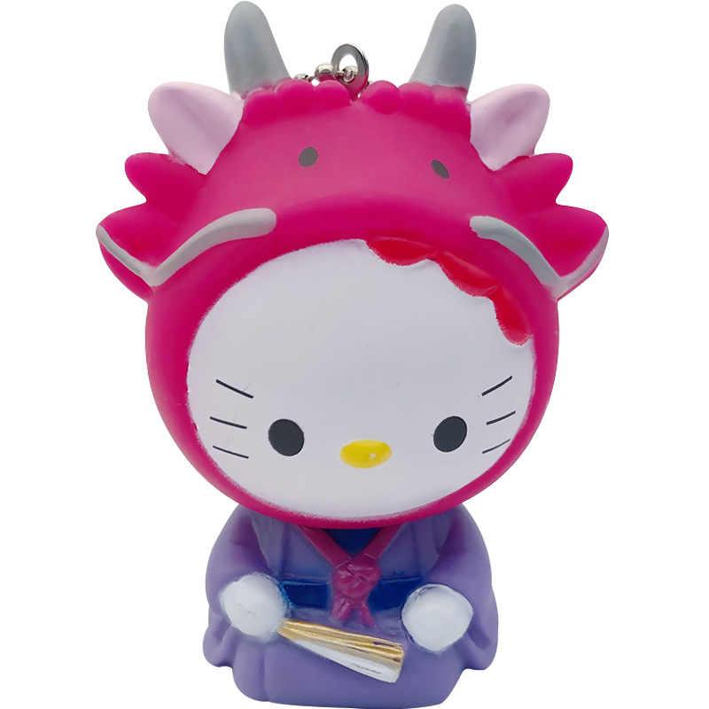 Bonito Olá Kitty Anel Chave Chaveiro Mulheres Anime Kt Gato Crianças Brinquedos Do Carro Da Corrente Chave Chave Titular Chaveiro Wrist Band corda Presentes Da Corrente Chave