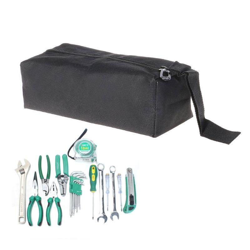 Waterproof Oxford Canvas Tool Bag Screw Nails Drill Bit Metal Parts Storage Case