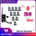 1 FM Transmitter FT11+10Pcs FM Radio Receiver PR13 Wireless Voice Transmission System For Guiding Church Meeting Training