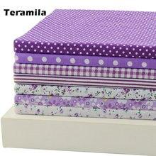 7 шт 50 см x Фиолетовый серии хлопчатобумажной ткани Жир Квартал