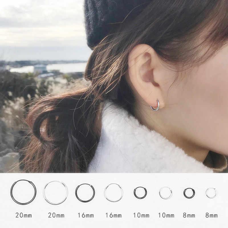 LUXUKISSKIDS 1 para złota Rainbow Hoop przegroda nos kolczyk koło koreański Hoop Earing zestaw ze stali nierdzewnej dla kobiet moda biżuteria