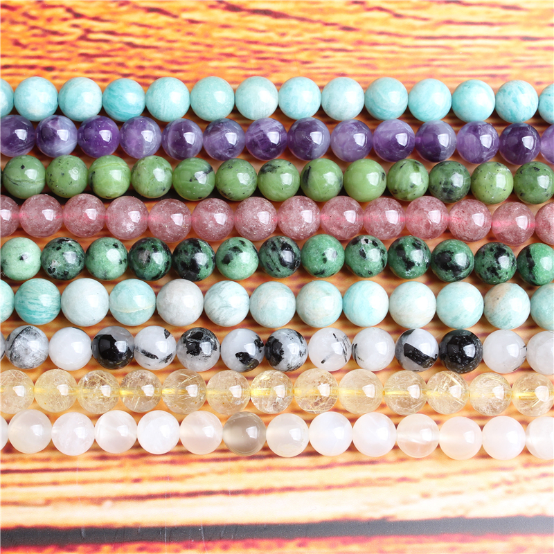 Natural jewelry 4 / 6 / 8 / 10 / 12mm red green Treasure loose beads series suitable for DIY bracelet necklace accessories