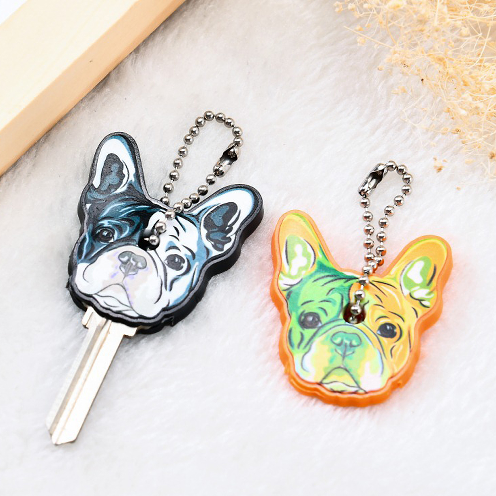 New Cartoon Silicone Protective Key Case Cover For Key Control Dust Cover Holder Pretty Cute Small Key Chain Pendant Key Holder