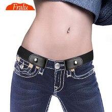 Пояс без пряжки для джинсовых брюк платья без пряжки эластичный пояс на талии для женщин/мужчин без выпуклостей без проблем пояс на талии