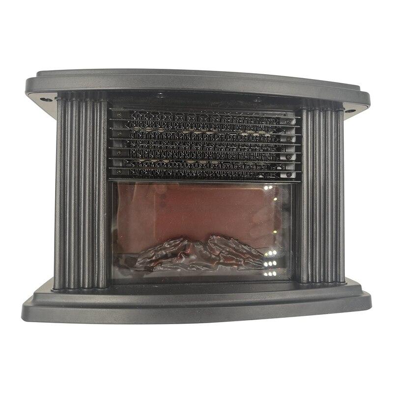 Mini Electric Flame Heater Air Warmer PTC Ceramic Heating Stove Radiator Household Handy Fan EU Plug  Warmer Fan Remote Control