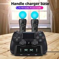 Für PS4 Controller Ladegerät Dock Station Für PS MOVE Controller Für Playstation 4 PS4 PSVR VR Bewegen Ladestation 4 in 1