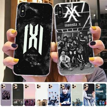 Телефонный чехол TOPLBPCS Monsta X KPOP Boy Group для iPhone 8 7 6 6S Plus X 5S SE 2020 XR 11 12mini pro XS MAX image