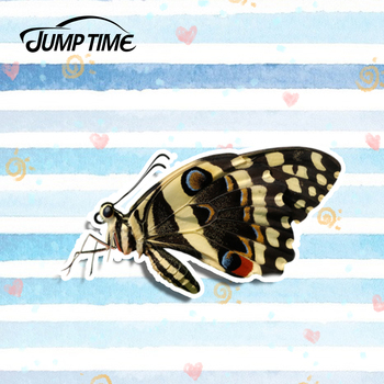 Jump Time 13cmx8cm Merging Wings Butterfly Sticker Funny Laptop Decal Sticker Car Styling Auto Motor Decoration Car Accessories image