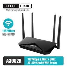Totolink a3002r 5G & 2,4G 1200M WiFi гигабитный маршрутизатор двухдиапазонный 1167 Мбит/с MU-MIMO V6