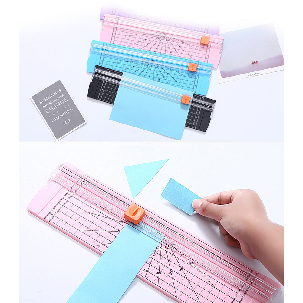 A4 A5 Paper Photo Label Scrapbooking Trimmer Precision Paper Cutter Safety Cutting Mat Ruler For Office School ABS
