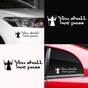 80% HOT SALES!!!Funny You Shall Not Pass Letters Car Sticker Auto Vehicle Truck Decor Decal image