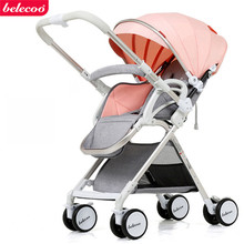 belecoo baby stroller two way baby stroller folding portable trolley stroller on the plane umbrella stroller high landscape baby stroller light umbrella folding baby carriage can sit baby lying on the plane