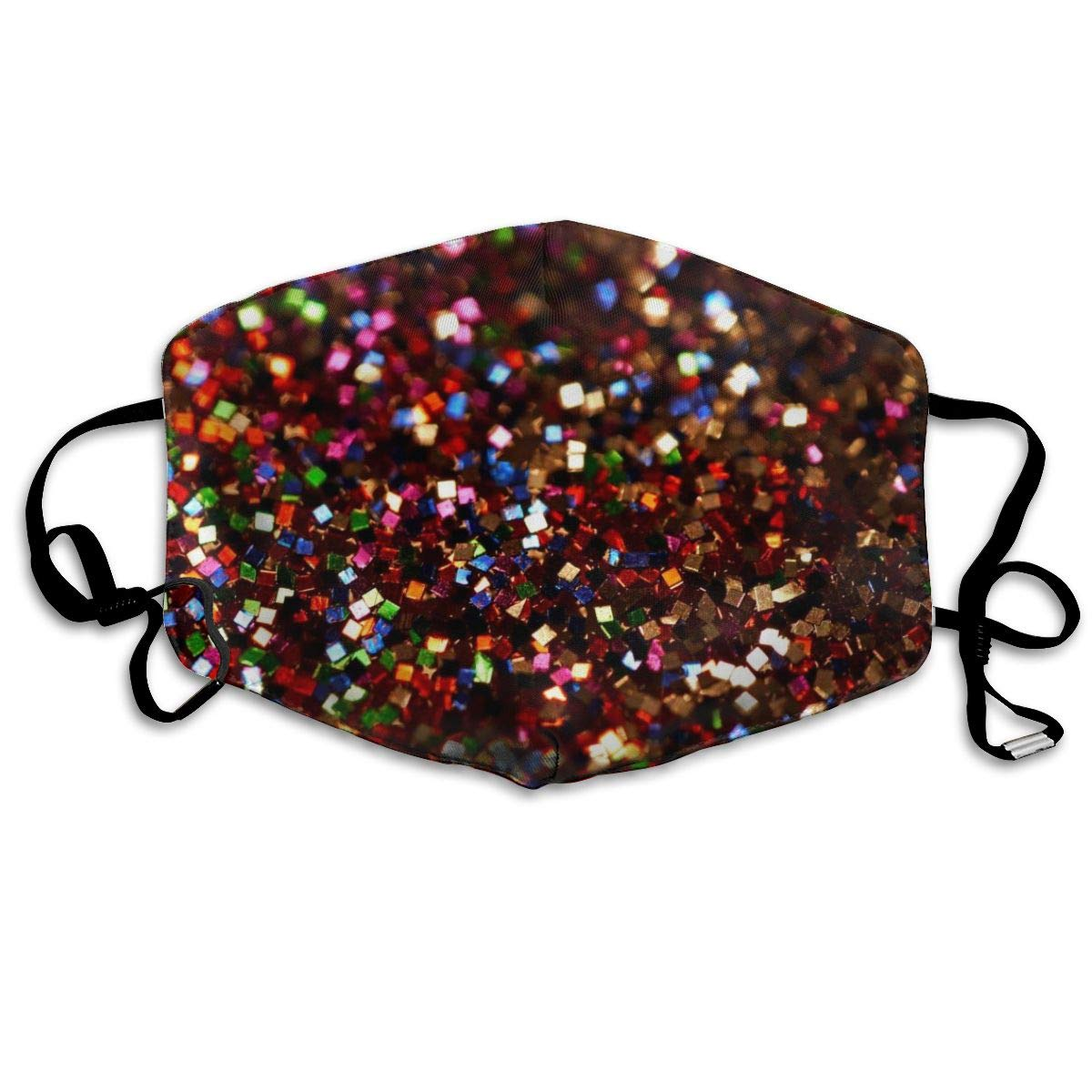 Sparkle Psychedelic Abstract Glitter Washable Reusable   Mask, Cotton Anti Dust Half Face Mouth Mask For Kids Teens Men Women