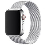 Ремешок для Apple watch браслет из нержавеющей стали на магнитной застежке для iWatch Series 3 4 5 6 7 se 1