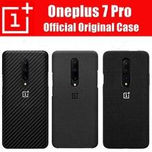 100% resmi orijinal Oneplus 7/7 Pro Case arka silikon kumtaşı naylon Karbon tampon kapak Oneplus kılıf