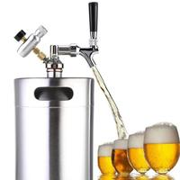 2/3.6/5L Stainless Steel Beer Keg Pressurized Growler for Craft Beer Dispenser System Home Brew Beer Brewing
