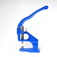 Alloy hand press snap Fastener machine 4mm grommet eyelet metal buttons Installation machine Leather Rivet Sewing repair tools