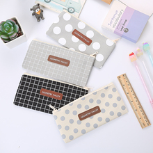 Pen-Bags Gift School-Supplies Canvas Korean Stationery Girls Cute Kawaii Letter for High-Capacity