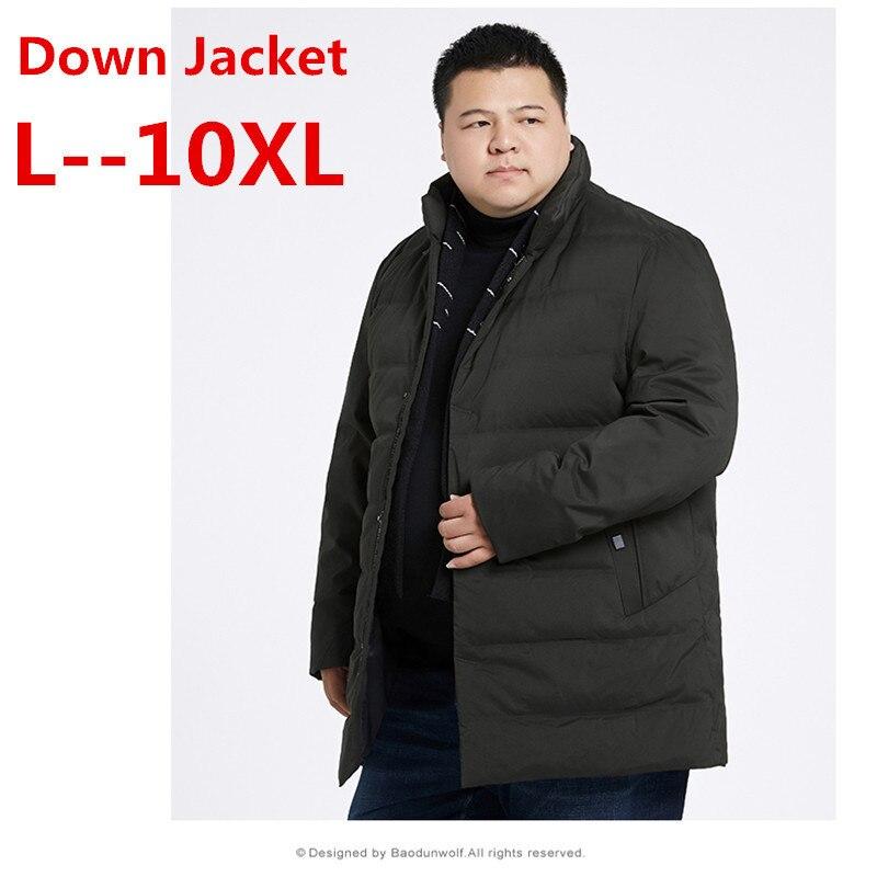 10XL 9XL 8XL White Duck Down Men's Winter Jacket Ultralight Down Jacket Casual Outerwear Snow Warm Fur Collar Brand Coat Parkas