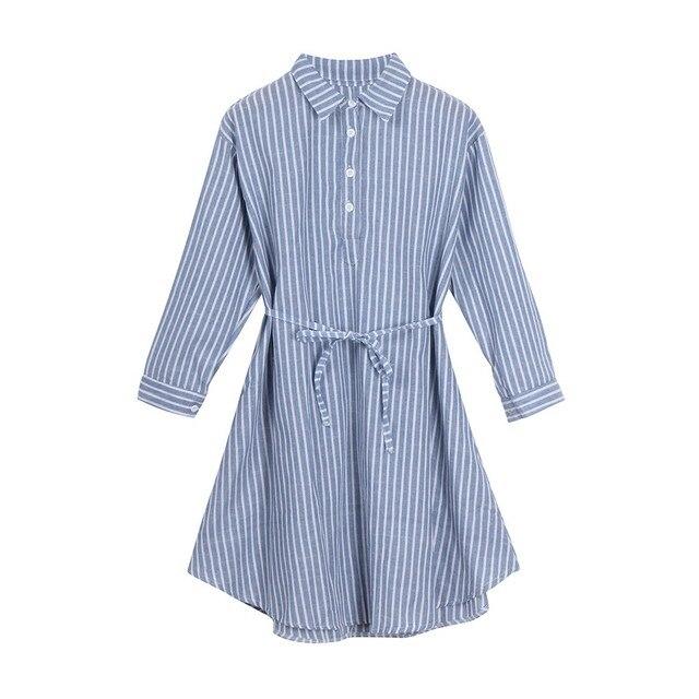 Striped Pregnant Maternity Dress for Women 2