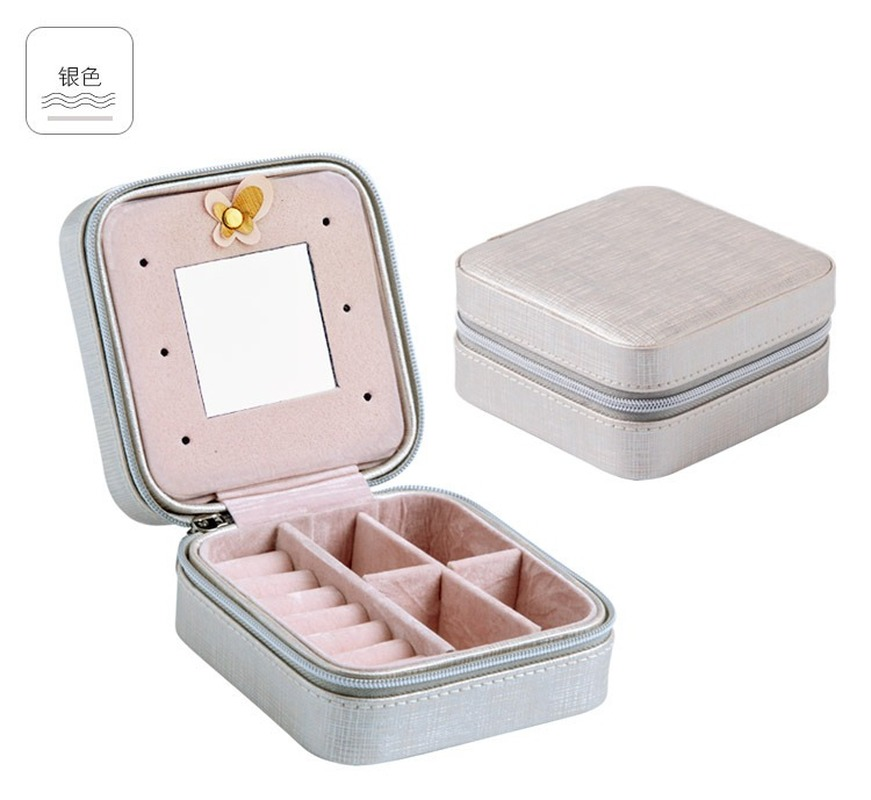 Купить с кэшбэком Earings fashion jewelry display Portable Ring jewelry box jewelry organizer storage box earring holder packaging display case