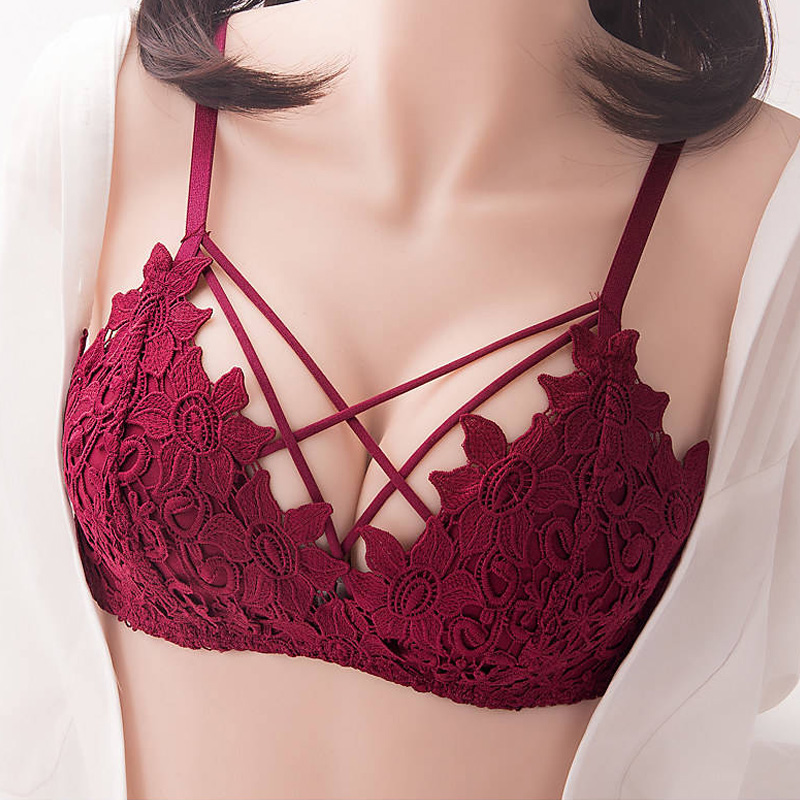 No Steel Ring Push Up Underwear Women Suit Bra Gathered Small Chest Sexy Lace Bras Thin Section Received
