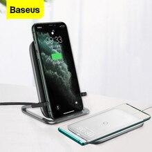 Baseus 15 w qi 무선 충전기 아이폰 11 프로 xs 최대 빠른 무선 충전 패드 삼성 s10 샤오 미 미 9 유도 충전기