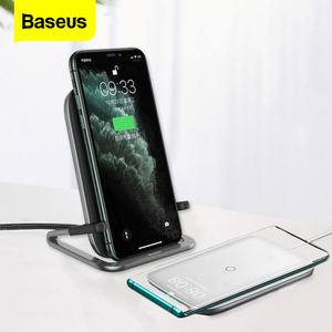 Image 1 - Baseus 15W Qi Caricatore Senza Fili Per iPhone 11 Pro Xs Max Veloce Wireless Pad di Ricarica Per Samsung S10 Xiao mi mi 9 caricatore ad Induzione