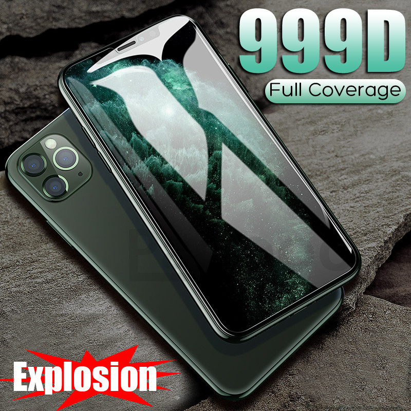 999D Tempered Protective Glass On The For IPhone 11 Pro Max 7 X XR Screen Protector For IPhone 7 8 6 6s Plus X XS Max Glass Film