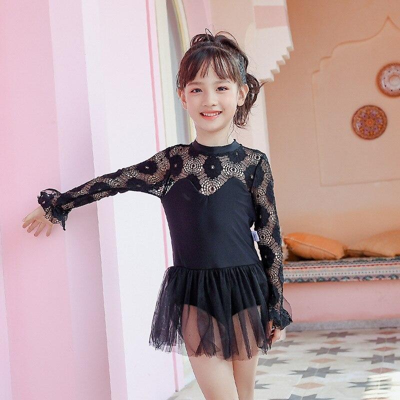Korean-style INS GIRL'S CHILDREN'S Swimwear Small CHILDREN'S Baby Cute Princess Dress-Hot Springs Infants Swimwear Sun-resistant