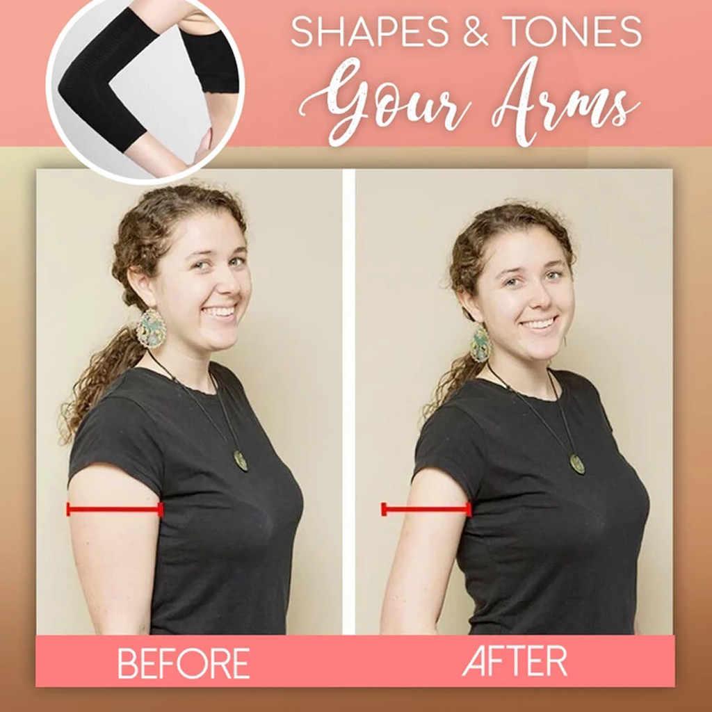 1 paar Schlank Dünnen Arme Unterarme Hände Shaper Fett Verbrennen Gürtel Compression Arm Abnehmen Form Massage Wärmer Kalorie Weg Lean arm