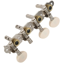 Machines Tuners Pegs Tuning Key with White Pearl Knobs 4L+4R for Mandolin k word gold mandolin chrome tailpiece with 3pcs screws plate with k decorative pattern for mandolin replacement