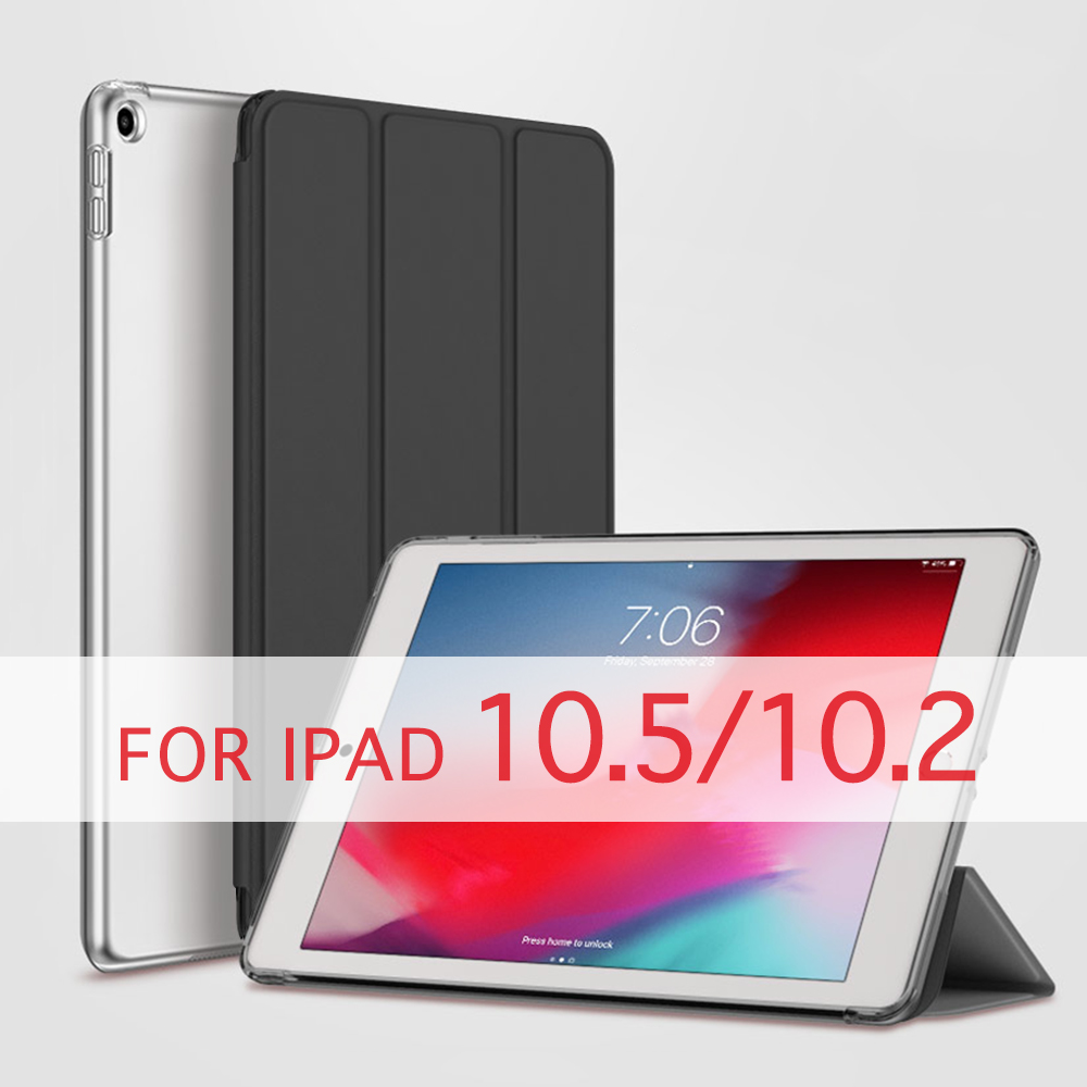 QIJUN Case For Apple IPad Pro 10.5 2017 Air 2019 Air3 10.5''/ IPad 10.2 2019 Funda PC Back Leather Smart Cover Auto Sleep