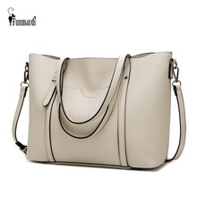 купить FUNMARDI New Arrival Big Women Bag Simple Designer Handbag Women Shoulder Bag PU Leather Messenger Bag Solid Color Tote WLHB2014 по цене 1252.64 рублей