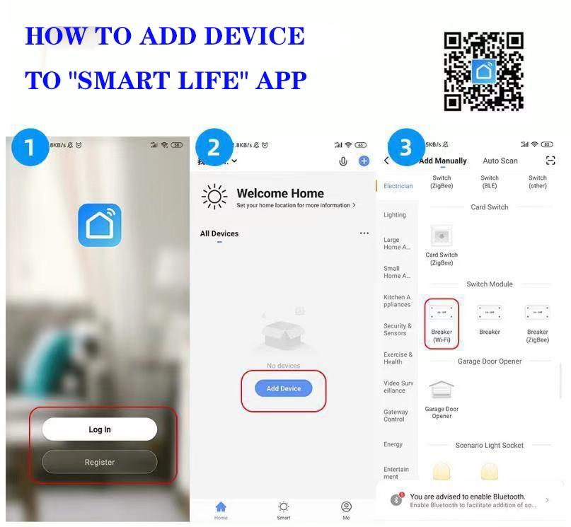 inteligente 2way controle de casa inteligente módulo