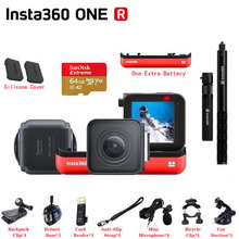 Insta360 câmera panorâmica r vr 4k 5.7k, à prova dágua, câmera de ação esportiva para iphone, smartphone adroid pk insta360 one x