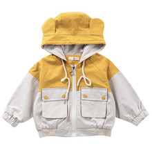 DFXD New Spring Autumn Kids Coat Children Clothes Toddler Jacket Long Sleeve Hooded Zipper Outwear For 2-7T Girls Fashion Korean children girls clothes kids baseball infant sweatershirt toddler fashion brand jacket new spring autumn baby outwear boys coat