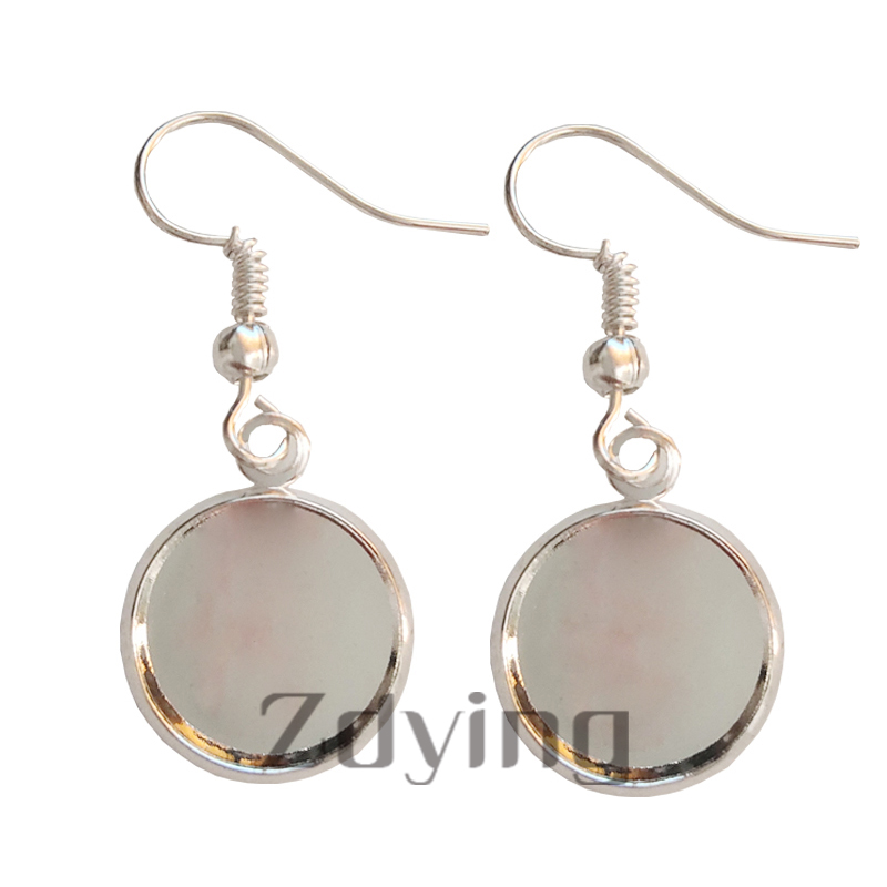 Zdying Islamic Muslim Sign Dangle Earrings Glass Cabochon Charm Earring Pendant Alloy Metal Arabic Religion Jewelry AL007 in Drop Earrings from Jewelry Accessories