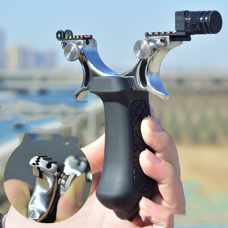 New Precision Slingshot That Can Be Used At Night. The Powerful Outdoor Hunting Slingshot Uses Flat Rubber Bands  Slingshot