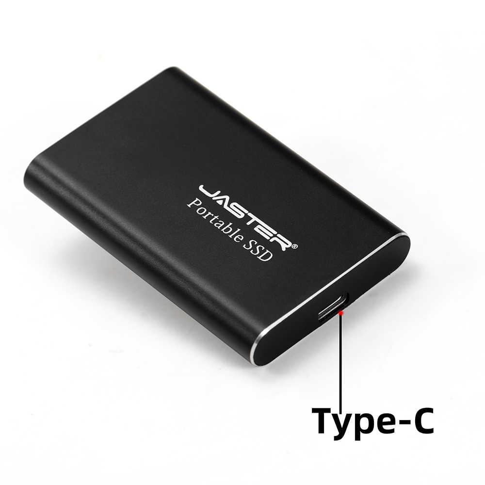 JASTER Eksternal SSD 250GB Hard Drive SSD Portabel USB 3.1 Tipe C Eksternal SSD untuk Laptop