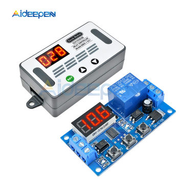 цена на DDC-331 DC 12V Trigger Cycle Time Timer Delay Relay LED Digital Display Adjustable Timing Control Switch Relays with Case