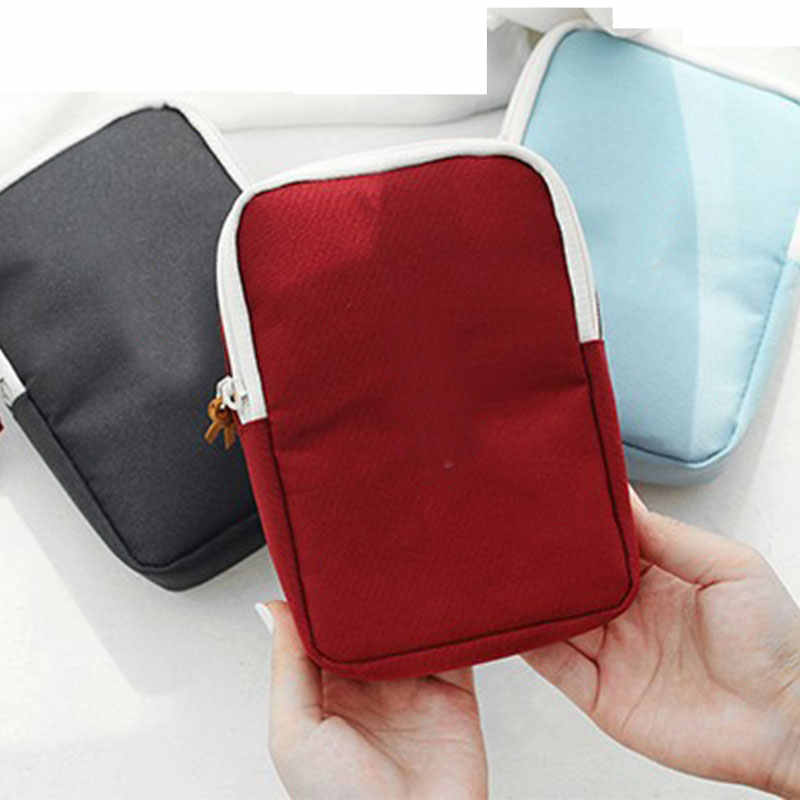 Headphone Case For Earphones Mini Zippered Sqaure Storage Bag Headset box for Earphone Case SD TF Cards USB Charger Earphone Bag