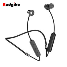 Redgiko Wireless Bluetooth Earphones Magnetic Noise Cancelling Headset Earbuds Handsfree For Samsung Xiaomi(China)