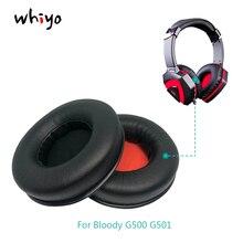 1 쌍의 귀 패드 쿠션 커버 이어 패드 교체 용 컵 Bloody G500 G501 G 500 G 501 G 500 G 501 헤드폰 슬리브