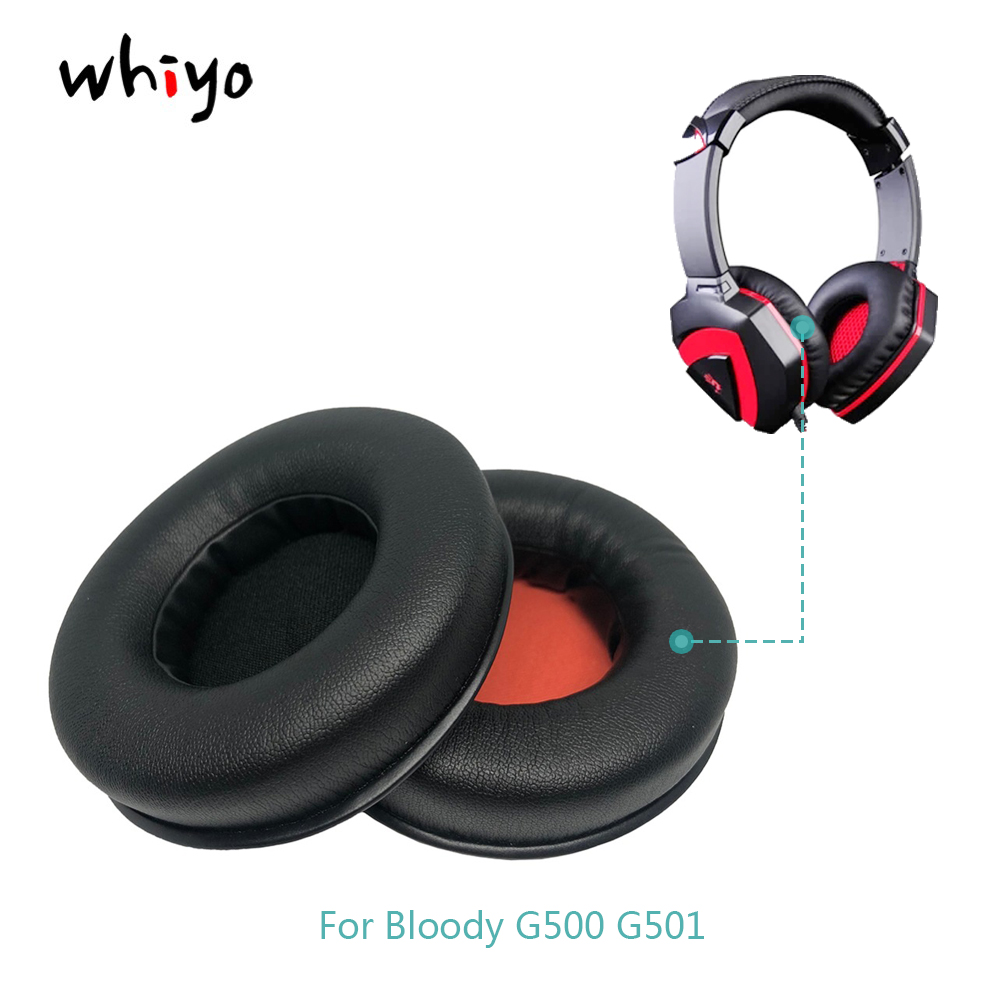 1 Pair Of Ear Pads Cushion Cover Earpads Replacement Cups For Bloody G500 G501 G-500 G-501 G 500 G 501 Headphones Sleeve
