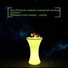 D60* H110cm круглый светодиодный светящийся коктейльный стол для выращивания барного стола светодиодная пластиковая мебель для клубного бара и дискотеки