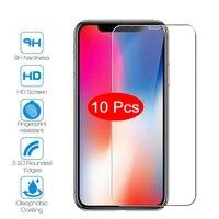 10 Pcs Schutz Glas Film Für iPhone 7 8 6 6s 5 5s SE Screen Protector Für iPhone X XS MAX XR auf iPhone 11 Pro Max Gehärtetem