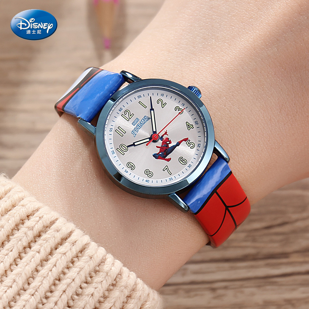 Disney Children's Quartz Watch Boy Watch And Gift Cute Trend Personality Mavel Kids Watch Water Resistant Alloy Buckle