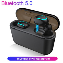 QIIHII IPX5 Waterproof Wireless Bluetooth Earphone Charging Box Stereo Headset True Wireless Earbuds For iphone Smartphone